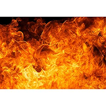 Baocicco 12x8ft Roaring Flame Backdrop Wallpaper Decor Passion Black Background Photography Background Blogger Vlogger Bonfire Party Activities Birthday Party Baby Children Adults Portrait Prop
