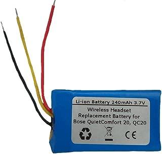 Starnovo 240mAh/3.7V Replacement Battery for Bose PR-452035, QuietComfort 20, QC20 Wireless Headset