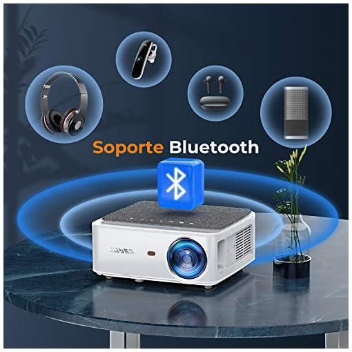 Proyector WiFi Bluetooth 1080P, YABER V6 7600 Lúmenes Proyector WiFi Full HD 1080P Nativo Soporta 4K, Ajuste Digital de… 4