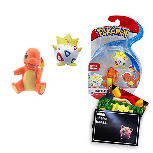 Lively Moments Pokemon Battle Pack Glumanda & Togepi / Sammelfiguren / Spielfiguren + Exklusive GRATIS Grußkarte