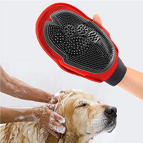 Hond baden handschoenen massage huisdier borstel kat benodigdheden baden handschoenen (kleur: zwart)