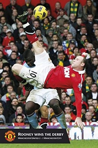 Fußball - Manchester United, Wayne Rooney Tor Poster (91 x 61cm)