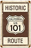 DGBELL California 101 Route Signe d'étain Vintage rétro Plaque de Fer Peinture Avertissement Avis rétro Affiche café Bar Film