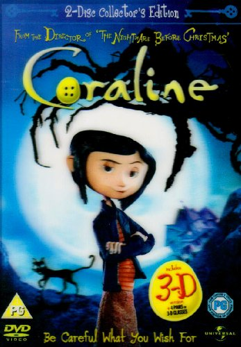 Coraline - 2 Disc Limited Edition (Includes The 2D And 3D Version And 4 Pairs Of 3D Glasses) [Edizione: Regno Unito]