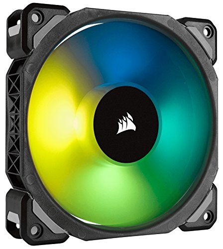 Corsair ML120 Pro - Ventilador de levitación magnética, 120 mm premium, con LED RGB, paquete sencillo (CO-9050075-WW)