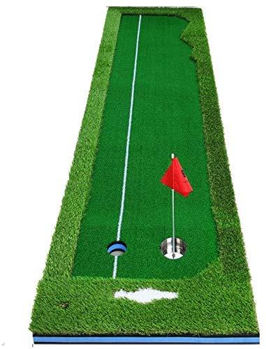 Alfombrilla de Golf El dispositivo de ejercicio de putting de golf, juego de golf interior, putting Pretty Pretty Office Greens, grandes y pequeños agujeros dobles aumenta la práctica del juego de pel