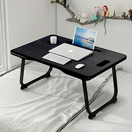 Vikmyer Mesa para Computadora Portátil Soporte de Escritorio Plegable para Regazo con Cajón de Almacenamiento, Mesa para Computadora Portátil para Cama Escritorio para Computadora Portátil