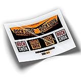 Pegatinas Amortiguador ROCKSHOX Monarch Plus RC3 HV WP201 Naranja