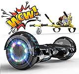 RCB Hoverboard Patinete Eléctrico Self Balancing Scooter de Auto-Equilibrio Luces LED Integradas con Hoverkart Go-Kart Bluetooth Regalo para Niños y Adultos 6.5