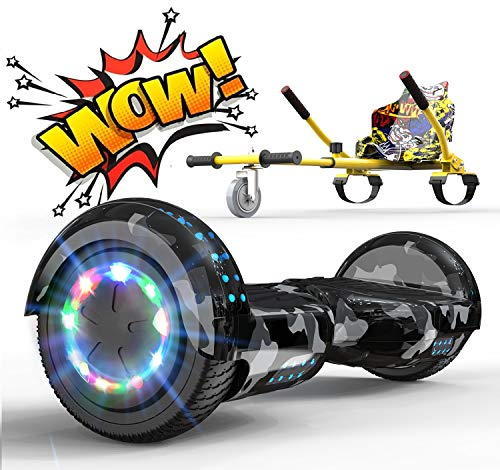 RCB Hoverboard Elettrico Scooter con Hoverkart Go-Kart Costruito in luci a...