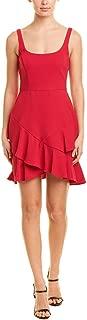 Womens Ruffle Dress, 2, Red