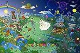 puzzle 1000 piezas 75 * 50 CM Pirámide maya 3D Clásico romántico abstracto de decoración del hogar de juguete colectivable de montaje