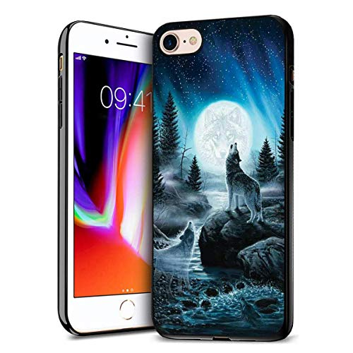 iPhone 7 Case, iPhone 8 Case, Premium TPU Ultra Thin Flexible Shock Absorbent Silicone Rubber Protective Cover for iPhone 7 / iPhone 8 (4.7 inch) - Roaring Wolf