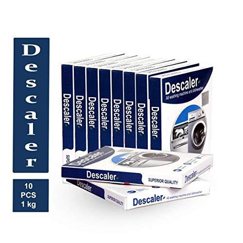 DESCALER powder for all washing machines (Samsung, whirlpool, Lg, IFB, Bosch, Haier, Godrej) Pack of 10 x 100gms - 1000 grams / 1Kg