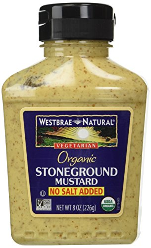 Westbrae Natural Stoneground Mustard, No Salt Added, 8 oz