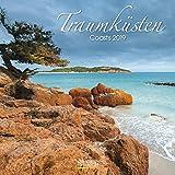 Traumküsten (BK) 225819 2019: Broschürenkalender mit Ferienterminen. Bilder von Küste und Meer. 30 x 30 cm - Wandkalender
