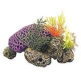POPETPOP Coral Acuario Decoración Pecera Resina Montaña Cueva Ornamentos Betta Fish House para Betta Dormir Descanso Ocultar Juego