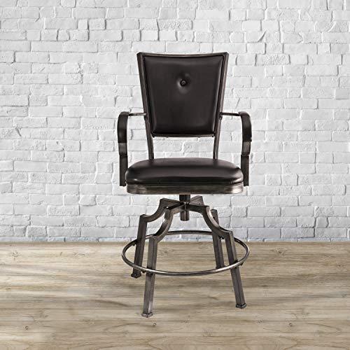 Hillsdale Furniture Castlebrook Swivel Counter Stool, Black