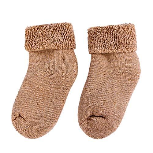 HUI.HUI 0-18 Mois Automne Hiver Chaussettes Plus Velours Bande Dessinée Accessoires Chaussettes BéBé Manchette de Plancher Nouveau-Né Socks