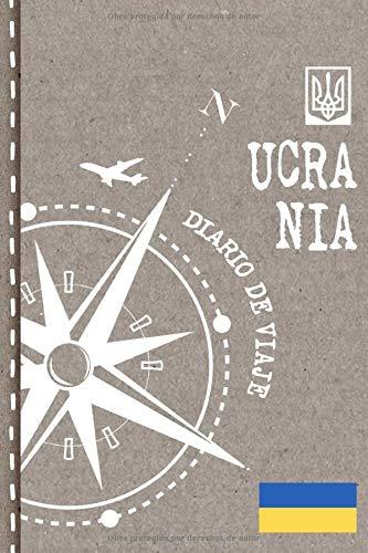 Ucrania Diario de Viaje: Libro de Registro de Viajes - Cuaderno de Recuerdos de Actividades en Vacaciones para Escribir, Dibujar - Cuadrícula de Puntos, Bucket List, Dotted Notebook Journal A5