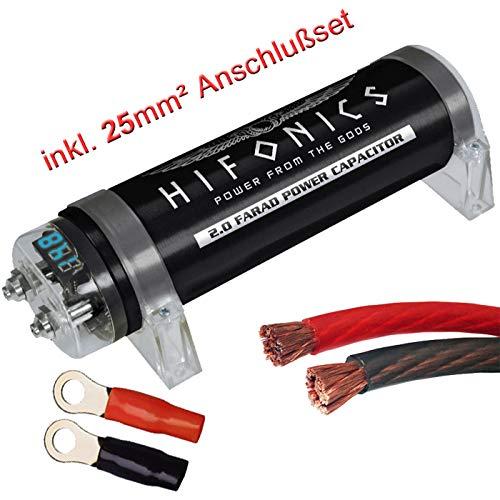 Hifonics HFC2000-2 Farad Powercap + 25mm² Kabel Anschlußset