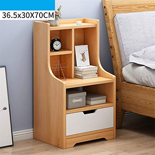 Madeinely Bedside Tables Bedside Tables with Drawer Side Tables Nightstands Bedroom Bedside Units Cabinets 36.5x30x70cm Bedroom Storage (Color : D, Size : 36.5x30x70cm)