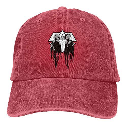 Daft-Punk verstellbare Golf Cotton Washed Denim Caps Rot