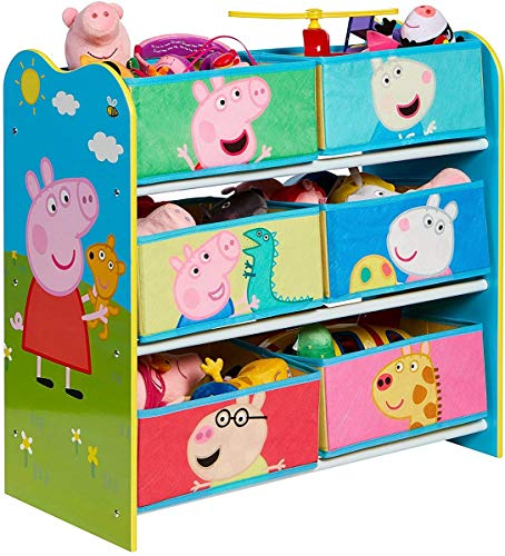 Peppa Pig Kids Toy Storage Unit, Constructed dimensions (approximate) 60cm (H) x 63.5cm (W) x 30cm (D)