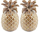 Party Explosions Tropical Pineapple Taper Candle Holders - Set of 2