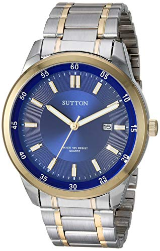 Sutton by Armitron SU/5019NVTT Reloj de pulsera de dos tonos para hombre