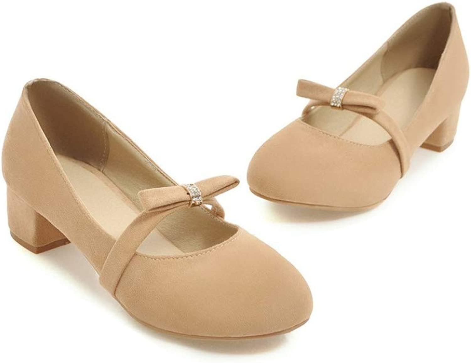 Women High Heel shoes Round Toe Shallow Sweet Pumps with Butterfly Knot Slip On Sandals Casual Fashion