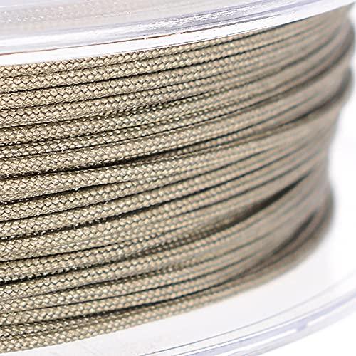 SHHMA Hilo De Nylon Cordón De Nylon Cuerda Trenzada Adecuado para Anudar, Artesanía, Borlas,Dark Gray