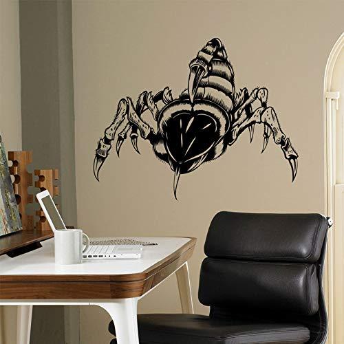 YuanMinglu Skorpion Gift Tier Wandtattoo Vinyl Insekt Wand Künstler Dekoration Schlafzimmer Cooles Design Junge 75x59CM
