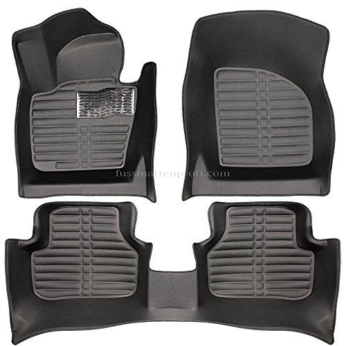 fussmattenprofi.com Tapis de Sol Voiture 3D Premium sur Mesure Adapté pour VW Passat CC 2012-2016