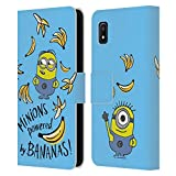 Head Case Designs Officially Licensed by Despicable Me Powered by Bananas Minion Graphics Leather Book Wallet Case Cover Compatible with Samsung Galaxy A10e (2019)