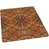 Office Chair Mat for Hard Floors, Boho Bamboo Pattern Primitive Spiritual Jagged Wood STYL, 35' x 47' Chair Mat for Hardwood and Tile Floors, Protective Floor Mat for Home or Office, Ginger