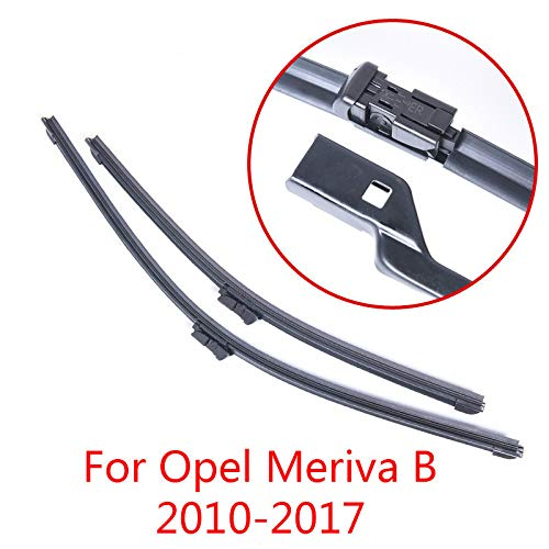 JNSMQC autoonderdelen zacht rubber ruitenwisserblad. Voor Opel Meriva B2010 2011 2012 2013 2014 2015 2016 2017.