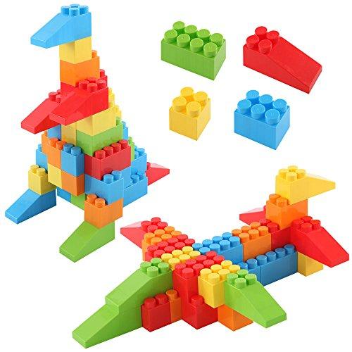ブロック おもちゃ 〔88ピースセット〕 大きい 知育 こども用 パズル カラーブロック ビッグ 玩具...