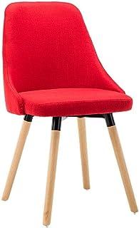 FDN Cocina Silla de Salón Estilo Nórdico,Oficina Salón de Clases Mostrador Lounge Comedor Salón Silla de Escribir Sillas de Comedor Sillas de Comedor (Color : Red)