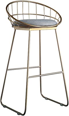 SEEKSUNG Stools Northern Europe Golden or White Bar Chair High Stool Modern and Simple Bar Stool