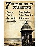 AZSTEEL Improve Your Attitude Fly to Puerto Rico Vertical