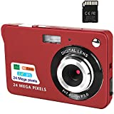 Digital Camera,2.4 Inch FHD Pocket Cameras Rechargeable 24MP Camera for Backpacking with 8X Digital Zoom Compact Cameras for Photography with sd Card 32GB