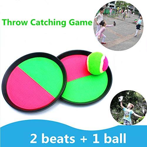 YUYON Bola De Objetivo Pegajosa para Niños, Juego De Raquetas Pegajosas De Bola De Succión, Adecuado para Deportes De Playa,Multi-Colored