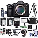 Sony Alpha a9 Mirrorless Digital Camera, Full Frame - Bundle with Camera Case, 64GB SDXC Card, 2X Spare Battery, Tripod, Wireless Remote Shutter Trigger. Video Light, Zoom-Mini TTL R2 Flash, and More