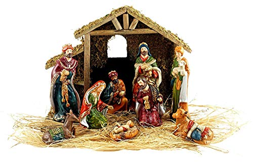 9pc Holiday Nativity Set