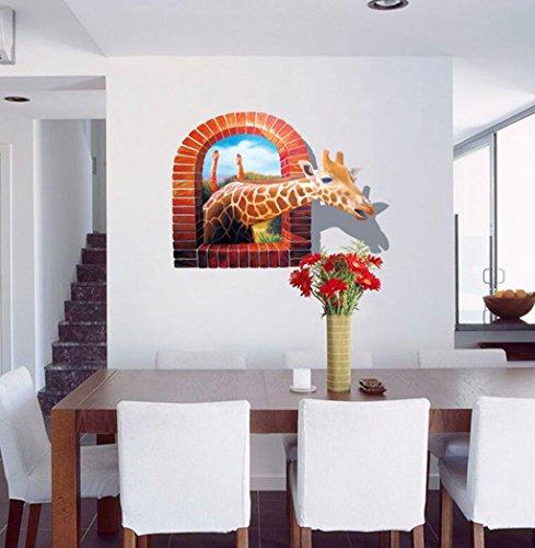 Madaye 3D Giraffe Dekoration Wandaufkleber Persönlichkeit Mode kreativ Wand