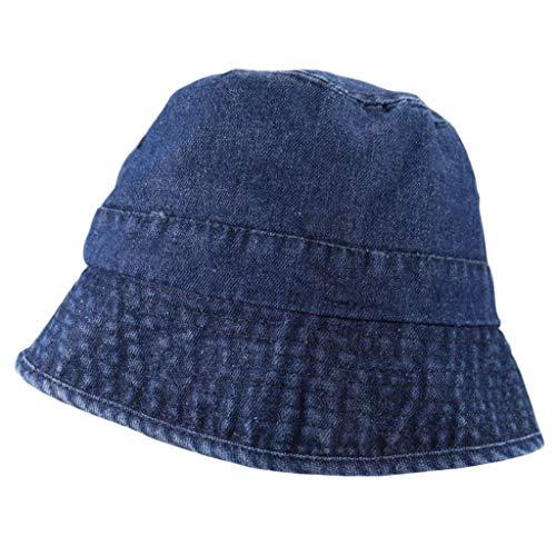 XuHang cappello giapponese unisex vintage lavato denim secchio harajuku protezione solare escursionismo panama pescatore cappello per sport all'aperto regali, Donna, B, B