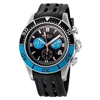 Breil Men's Manta 1970 Swiss-Made Chronograph Watch BW0405 with 44mm Stainless Steel Case, Blue/Black Dial, and Black Rubber Strap (B001AXXWRE) | Amazon price tracker / tracking, Amazon price history charts, Amazon price watches, Amazon price drop alerts