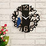 MATERIAL HIGHLIGHTS: This beautiful wall clock is made up with wood which gives your home a vintage look. Having appealing colors, this wall clock enhances the look of your home décor. PLEASE NOTE: This is the handmade product and there may be some s...