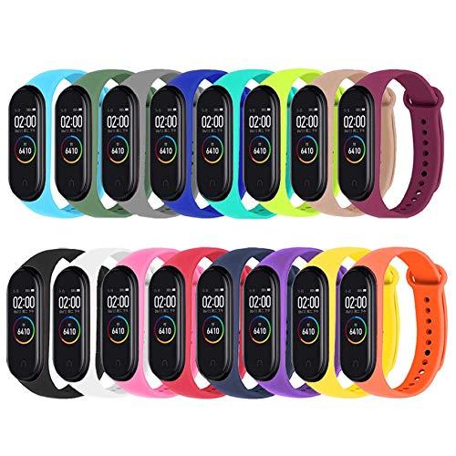 Mardozon Correas para Xiaomi Mi Band 3/4 Pulseras Reloj Coloridos Silicona Banda Reemplazo para Mi Band 3 Compatible con Mi Smart Band 4